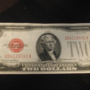 1928 G Red Two Dollar Note Extra Fine FR 1508
