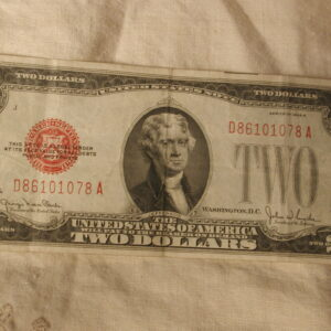1928 G Red Two Dollar Note Very Fine FR1508