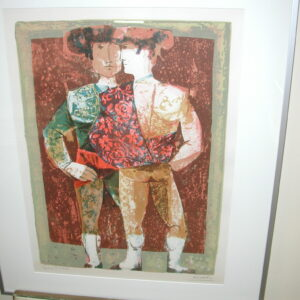 Matador Reflection Cubism signed Sunol Alvar artist proof Lithograph