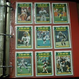 1987 Topps Complete Football in binder + 1000 yard Club EX/MT