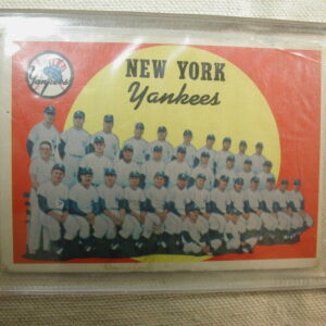 1959 Topps 510 New York Yankees Roster Checklist