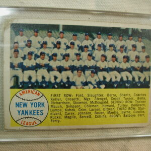 1958 Topps 246 New York Yankees Roster Checklist