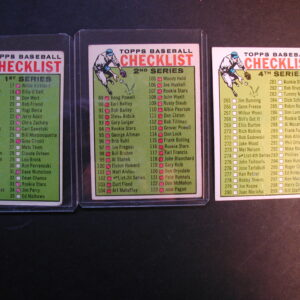1964 Topps Checklist 1st 2nd and 4th series lot of 3 cards