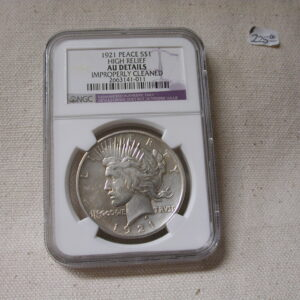 1921 Peace Dollar High Relief NGC AU Details