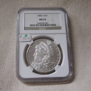 1880-S Morgan Dollar NGC MS63 San Francisco bright white