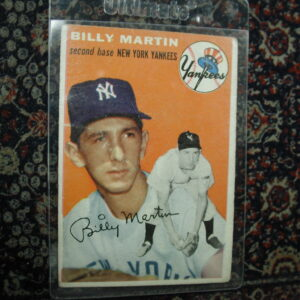 1954 Billy Martin Topps 13 poor condition