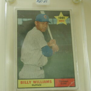 1961 Topps Billy Williams 141 Rookie Chicago Cubs