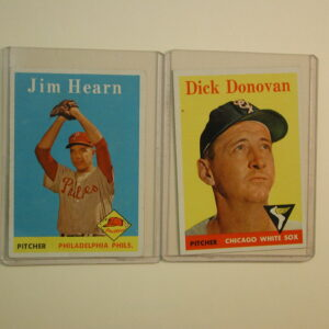 1958 Topps Lot of 2 Cards Jim Hearn 298  Dick Donovan 290