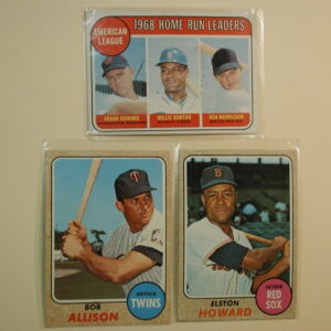 1968/1969 Topps Lot of 3 Homerun Leaders 1969 #5, Bob Allison, Elston Howard