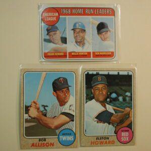 1968/1969 Topps Lot of 3 Homerun Leaders 1969 #5, Bob Allison, Elston Howard