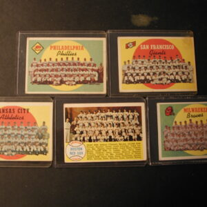 1959 1958 - 312 Topps checklists 8, 69, 172, 419