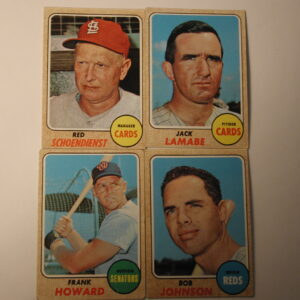 1968 Topps Baseball Lot of 8 VG/EX
