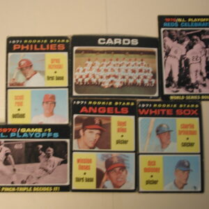 1971 Topps Rookie Stars World Champions Lot of 11