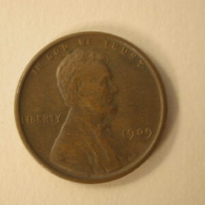 1909-VDB U.S Lincoln Wheat Cent Uncirculated Brown
