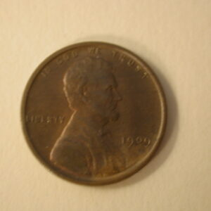 1909-VDB U.S Lincoln Wheat Cent Choice Uncirculated Red Brown