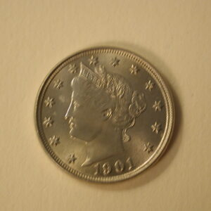 1901 U.S Liberty Head 5 Cents Choice Uncirculated Gorgeous