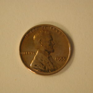 1955 Red U.S Lincoln Wheat Cent Proof