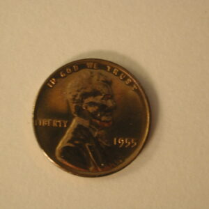 1955 Red U.S Lincoln Wheat Cent Proof Mintage 378,200