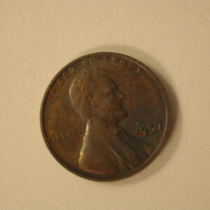 1957 U.S Lincoln Wheat Cent Toned Proof