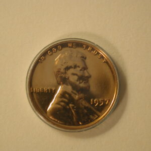 1957 Red U.S Lincoln Wheat Cent Proof