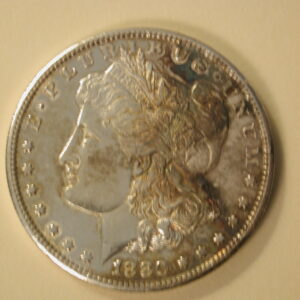 1880-S  Morgan Silver Dollar About Uncirculated Polished