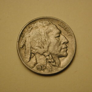 1937-D Buffalo Nickel 5 Cent About Uncirculated