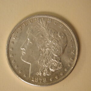 1878-S U.S Morgan Silver Dollar About Uncirculated