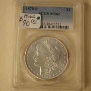 1878-S Morgan Silver Dollar PCGS MS62