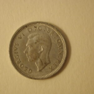 1943 Great Britain 3 Pence About Uncirculated KM 848