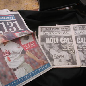 Cal Ripken Holy Cal 2,131 Record Set of 3 newspapers 1995