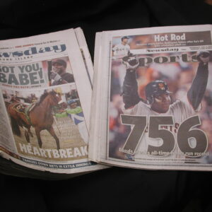 Barry Bonds record breaking Newsday May 21 2006 & Aug 8 2007  A Rod benches empty