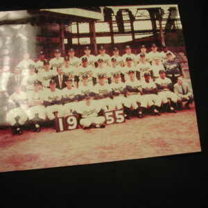 Brooklyn Dodgers 1955 team color photo 8 x 10