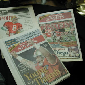 San Francisco 49ers win Super Bowl 1995 collection newspapers