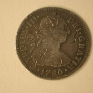 1780 Mexico Hispania 3 Reales Mexico City Very Fine KM 88.2