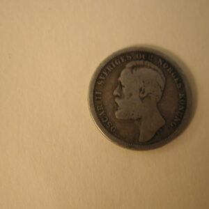 1880-EB Sweden 1-Krona Very Good
