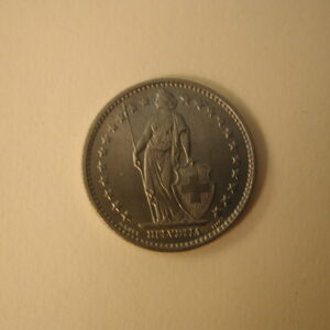 1968 Switzerland 2 Francs Uncirculated KM 21A.1