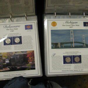 Statehood Quarter & Stamp complete set Postal Comm Society Vol 1 & 2