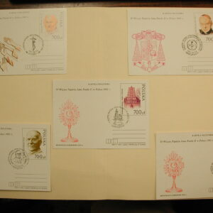 Pope John Paul II -Poland From 1991- Stationary Cards