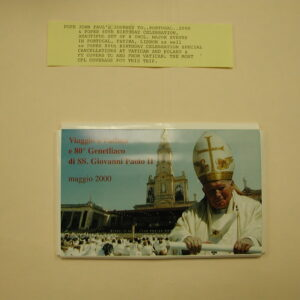 Pope John Paul II -Journey to Portugal 2000 - 80th Birthday Celebration 8 Covers