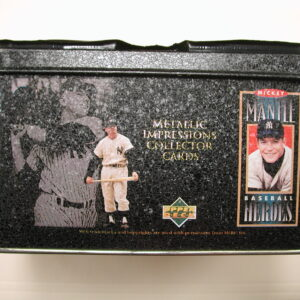 1995 Mickey Mantle Collector Metal Impression Cards w/ TIN Baseball Cards