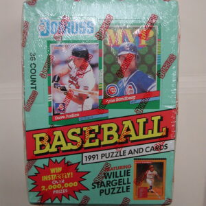 1991 Donruss Puzzle Baseball Cards Series 2 Factory Sealed Wax Boxes 36 Packs
