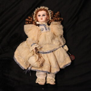 "Mundia Christine et Cecile 15"" porcelain doll NEW with box"