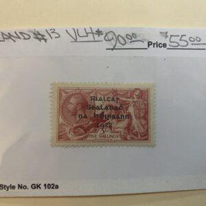 Ireland Stamp #13 VLH