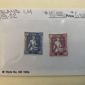 Ireland Stamp #131-32 LH