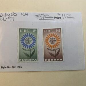 Ireland Stamp #196-97 NH