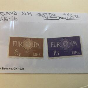 Ireland Stamp #175-76 NH