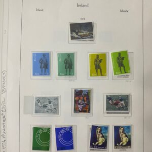 1974-1980- Ireland Mounted Stamp Sheets